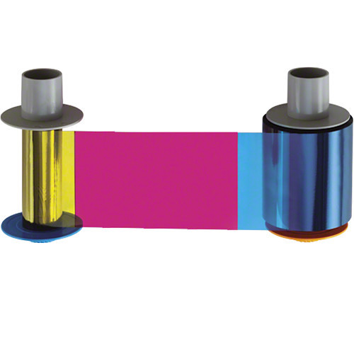 Fargo YMCKK Full-Color Ribbon with Black Resin Panels for HDP5000 Printers
