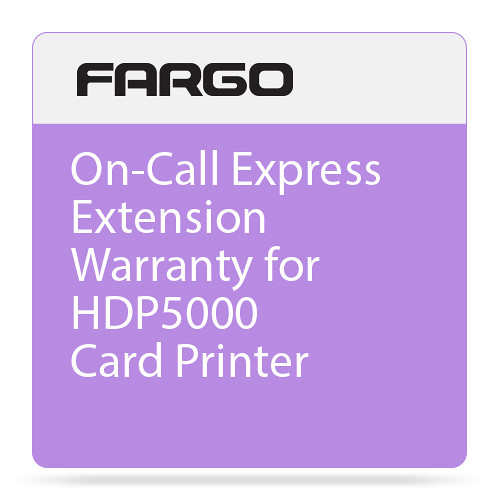 Fargo 2nd Year On-Call Express Extension Warranty for HDP5000 Card Printer