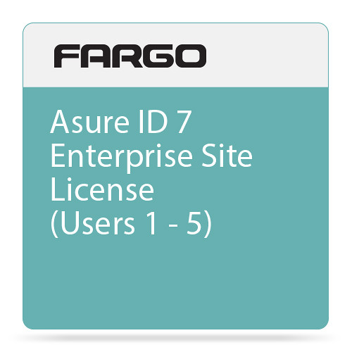 Fargo Site License for Asure ID 7 Enterprise ID Card Printing Software (1-5 Users)