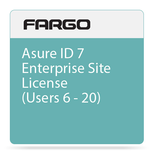 Fargo Site License for Asure ID 7 Enterprise ID Card Printing Software (6-20 Users)