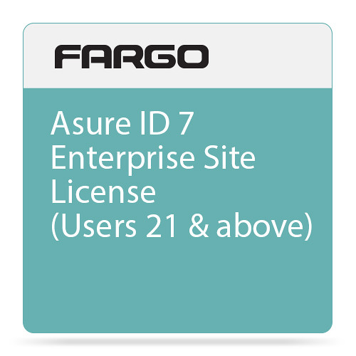 Fargo Site License for Asure ID 7 Enterprise ID Card Printing Software (21 or More Users)