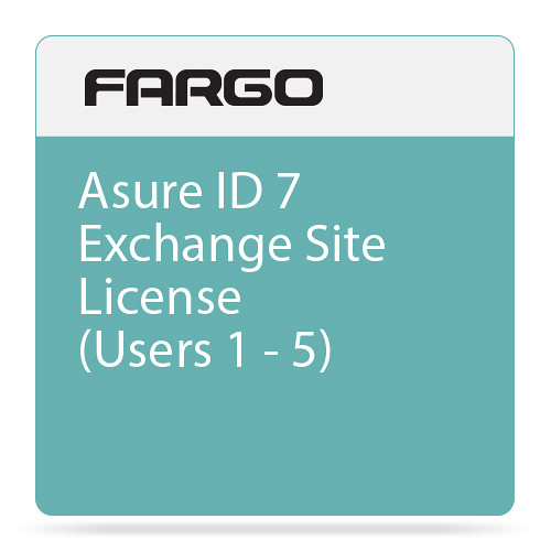 Fargo Asure ID 7 Exchange Site License (Users 1 through 5)