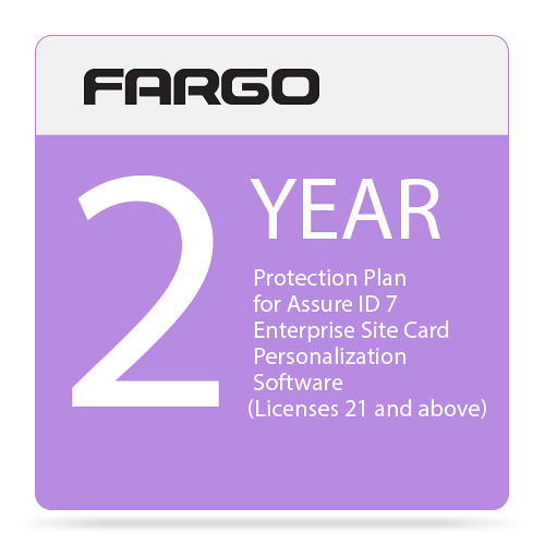 Fargo Protection Plan for Assure ID 7 Enterprise Site Card Personalization Software (Two-Year, Price for License 21 and Above)
