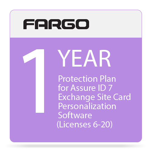 Fargo Protection Plan for Assure ID 7 Exchange Site Card Personalization Software (One-Year, Price for License 6 Through 20)