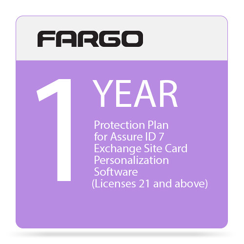 Fargo Protection Plan for Assure ID 7 Exchange Site Card Personalization Software (One-Year, Price for License 21 and Above)