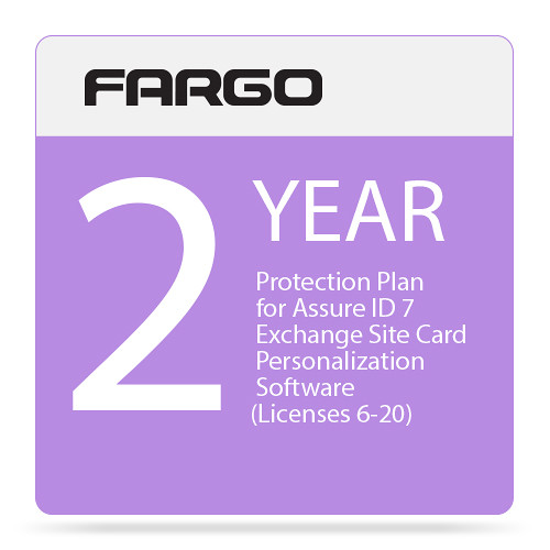 Fargo Protection Plan for Assure ID 7 Exchange Site Card Personalization Software (Two-Year, Price for License 6 Through 20)