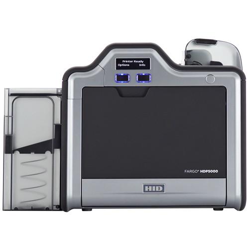 Fargo HDP5000 Single-Sided ID Card Printer (Magnetic Stripe Encoder, 5127 Smart Card Encoder)
