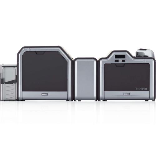 Fargo HDP5000 Dual-Sided ID Card Printer (Single-Sided Lamination, Magnetic Stripe Encoder, and 5127 Smart Card Encoder)