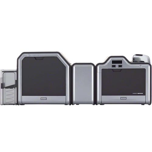 Fargo HDP5000 High-Definition Dual-Sided Printer/Encoder with Omnikey 5121 Contact Smart Card Encoder and ISO Magnetic Stripe Encoder with Dual-Sided Lamination