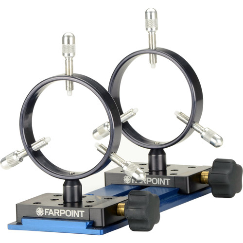 Farpoint 90mm Mounting Rings with Losmandy Dovetail (Set of 2)