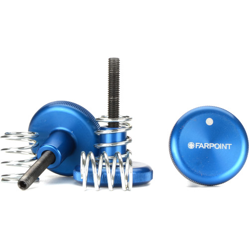 Farpoint Knob and Spring Kit for Zhumell Z12 Dobsonian Telescope (3-Pack, Blue)