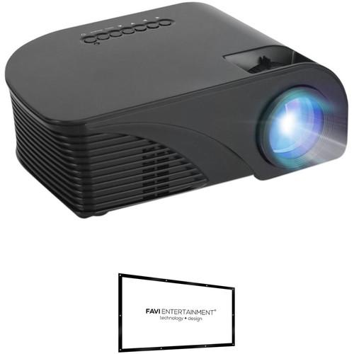 Favi Entertainment 800 x 480 3P LED WVGA Portable Projector