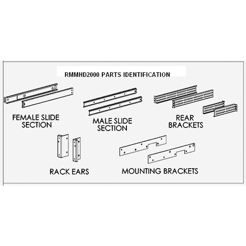 FEC 14oo RMMHD2000 Custom Rack-Slide Kit