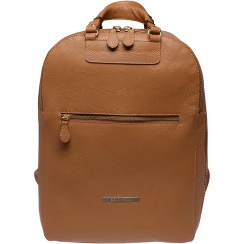 FEDERICO SERRANI Agatha Leather Photo and Laptop Backpack (Flake and Gold)