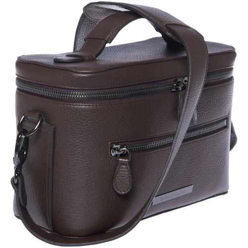 FEDERICO SERRANI Capetown Leather Camera Bag (Chocolate)