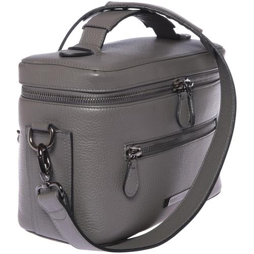 FEDERICO SERRANI Capetown Leather Camera Bag (Fog)