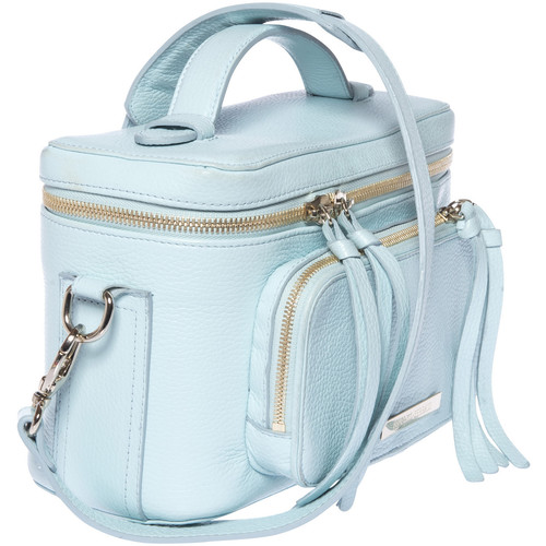FEDERICO SERRANI Kimberley Leather Camera Bag (Aquamarine)