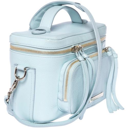 FEDERICO SERRANI Kimberley Leather Camera Bag (Aquamarine)