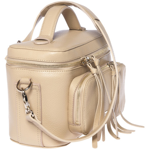 FEDERICO SERRANI Kimberley Leather Camera Bag (Champagne)