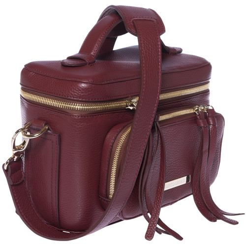 FEDERICO SERRANI Kimberley Leather Camera Bag (Cremisi)
