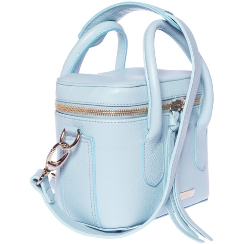 FEDERICO SERRANI Springbok Leather Camera Bag (Aquamarine)