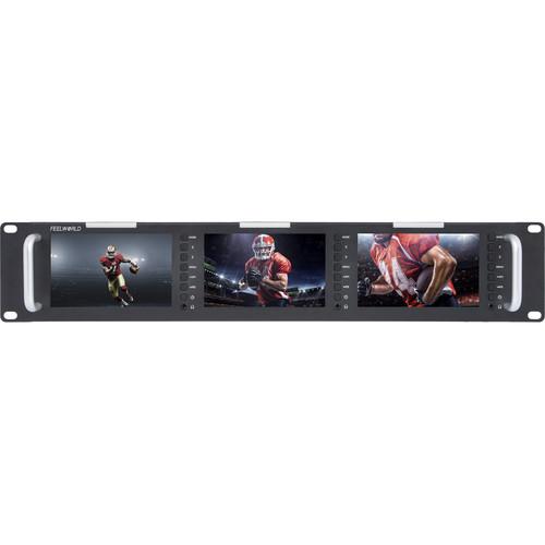 "FeelWorld T51-H Triple 5"" 2 RU HDMI Rackmount Monitor"