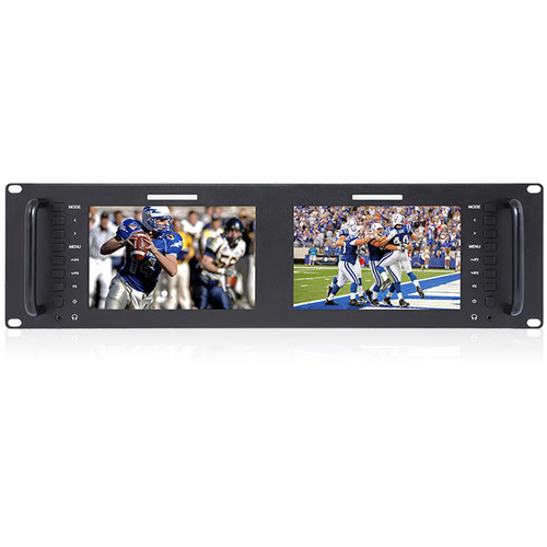 "FeelWorld D71 Dual 7"" 3 RU Rackmount 3G-SDI/HDMI LCD Monitor"