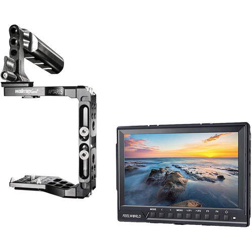 "FeelWorld 7"" FW760 IPS HDMI Field Monitor Kit with Aptaris Half Cage"