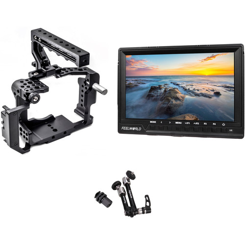 """FeelWorld 1920 x 1200 7"""" HDMI Monitor with a7S II / a7R II Cage & Magic Arm Kit"""