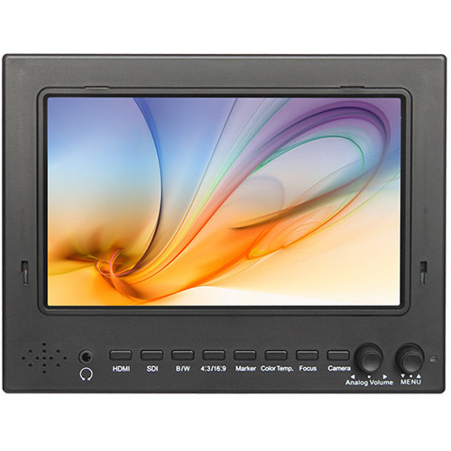 """FeelWorld 7"""" ST702 3G-SDI & HDMI Field Monitor Kit with Universal Frame"""