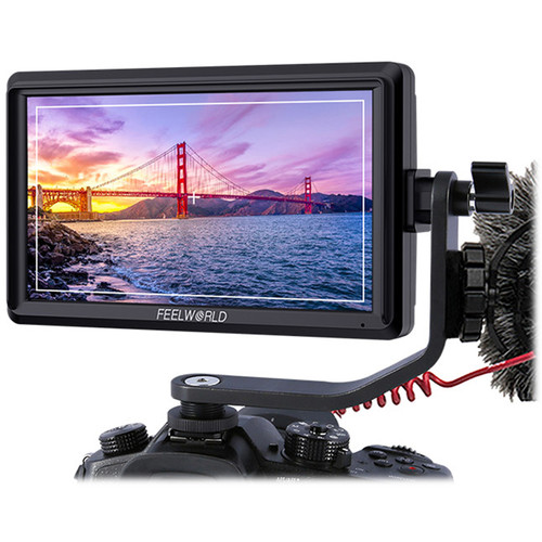 "FeelWorld 5.5"" Full HD HDMI On-Camera Monitor with 4K Support for Gimbals"