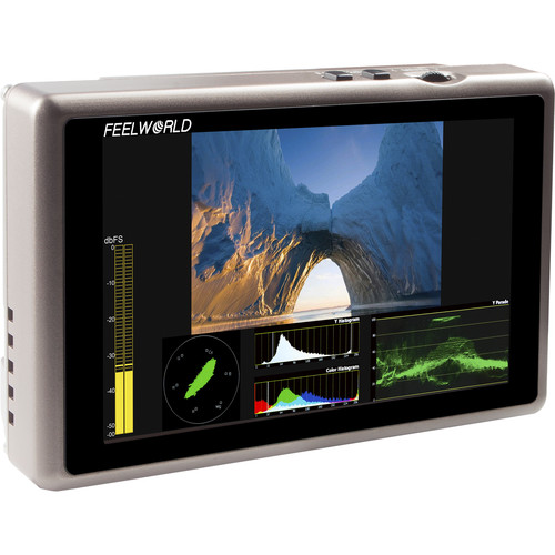 "FeelWorld G55 5.5"" IPS Full HD 3G-SDI HDMI On-Camera Monitor with Waveform, Vectorscope, and Histogram"