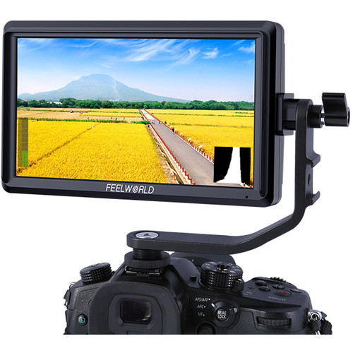 "FeelWorld S55 5.5"" Lightweight HDMI Monitor with 4K Input/Output"