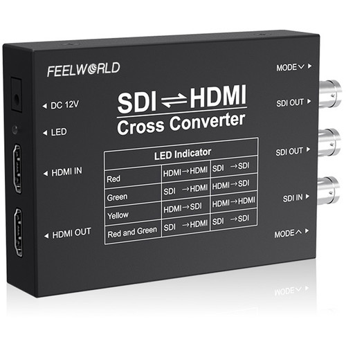 FeelWorld Seetec SDI / HDMI Cross Converter (Black)