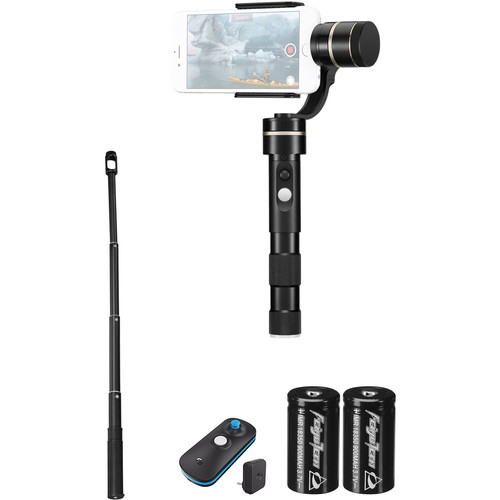 Feiyu G4 Pro Gimbal Kit with Remote, Extension Bar, and Spare Battery