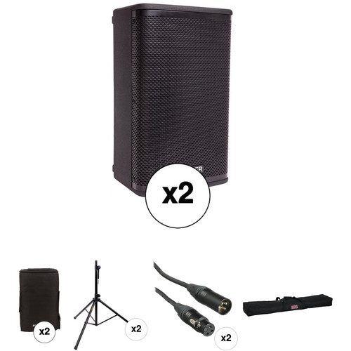 Fender Fortis F-10BT Portable PA System Kit with Speaker Stands and Protective Bags
