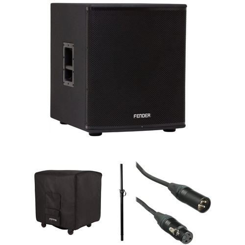 Fender Fortis F-18SUB Powered Subwoofer Kit with Attachment Shaft and Protective Cover