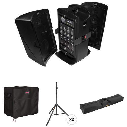 Fender Passport CONFERENCE Kit with Speaker Stands, Gator Cases Case, and Carry Bag