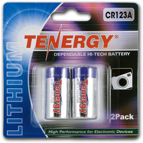 Fenix Flashlight Tenergy CR123A Lithium Propel Batteries (3V, 1400mAh) - 2-Pack