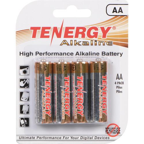 Fenix Flashlight Tenergy Standard AA Alkaline Batteries (1.5V, 4-Pack)