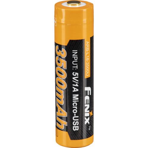 Fenix Flashlight 18650 Lithium-Ion Battery with Micro-USB Charging Port (3.6V, 3500mAh)