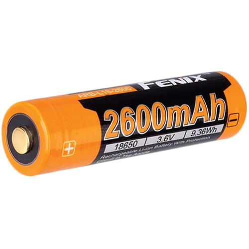Fenix Flashlight 18650 Rechargeable Lithium-Ion Battery (3.6V, 2600mAh)