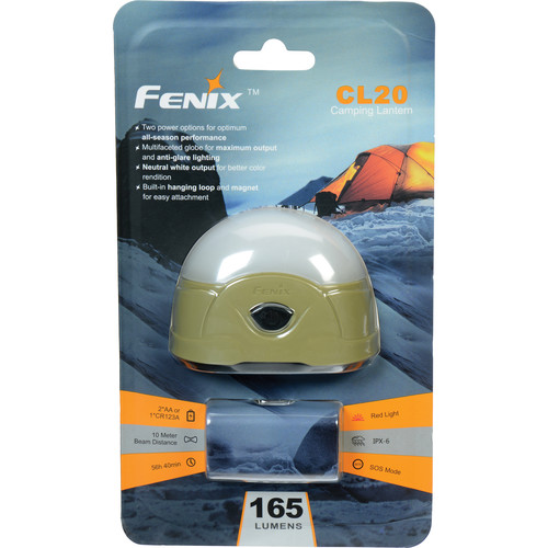 Fenix Flashlight CL20 Dual-Color LED Camping Lantern (Olive Green)