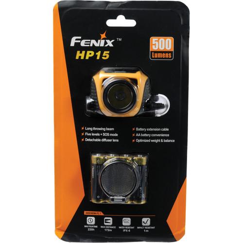 Fenix Flashlight HP15 LED Head Light (Orange)