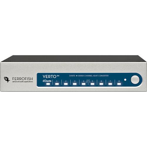 Ferrofish Verto64 64-Channel ADAT/Dante Format Converter