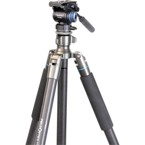 Field Optics Research ProMax Ultra-FBH-FVH320 FT-6841C Carbon Fiber Tripod System