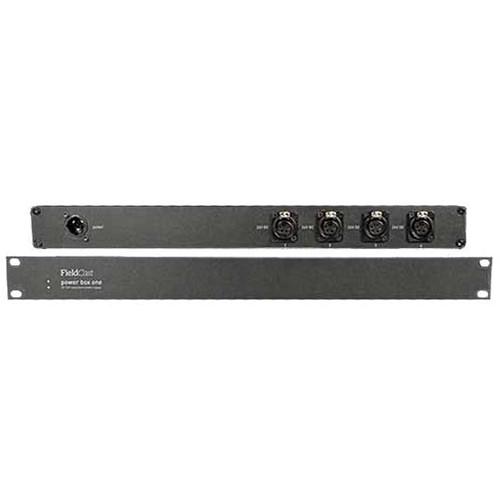 "FieldCast 19"" Power Box One with Dual 24V Power Supplies & 4 XLR Connectors (1RU)"