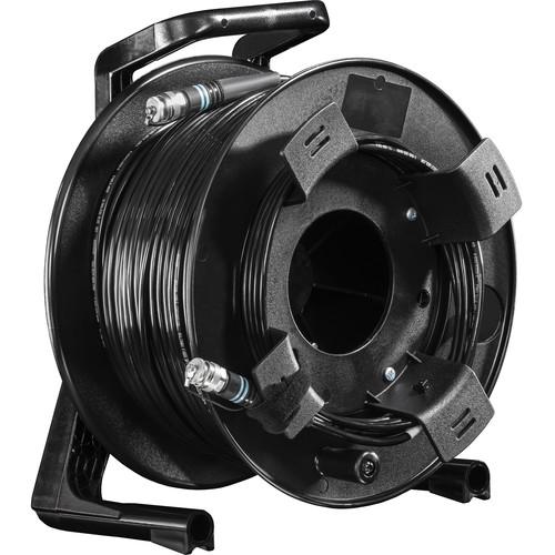 FieldCast 2Core Multi-Mode Fiber Optic Cable on Winding Drum (Heavy-Duty, 328')