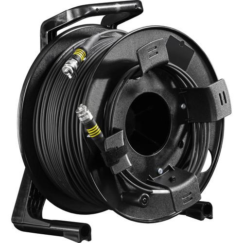 FieldCast 4Core Single-Mode Fiber Optic Cable on Winding Drum (Ultra-Light, 656')