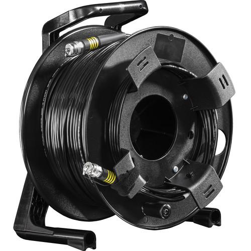 FieldCast 4Core Single-Mode Fiber Optic Cable on Winding Drum (Heavy-Duty, 328')